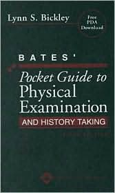 Image of the book cover for 'BATES' POCKET GUIDE TO PHYSICAL EXAMINATION AND HISTORY TAKING'