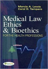 Image of the book cover for 'MEDICAL LAW, ETHICS, & BIOETHICS'