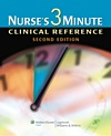 Image of the book cover for 'NURSE'S 3-MINUTE CLINICAL REFERENCE'