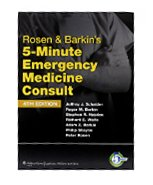 Image of the book cover for 'ROSEN & BARKIN'S 5-MINUTE EMERGENCY MEDICINE CONSULT'