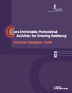 Image of the book cover for 'Core Entrustable Professional Activities for Entering Residency'