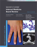 Image of the book cover for 'Mayo Clinic Internal Medicine Board Review'