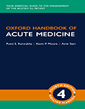 Image of the book cover for 'Oxford Handbook of Acute Medicine'