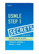 Image of the book cover for 'USMLE Step 1 Secrets'