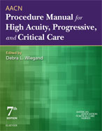 Image of the book cover for 'AACN Procedure Manual for High Acuity, Progressive, and Critical Care'
