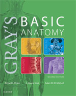Image of the book cover for 'Gray's Basic Anatomy'