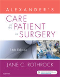 Image of the book cover for 'Alexander's Care of the Patient in Surgery'