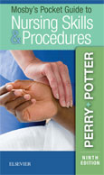 Image of the book cover for 'Mosby's Pocket Guide to Nursing Skills & Procedures'
