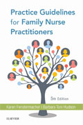 Image of the book cover for 'Practice Guidelines for Family Nurse Practitioners'