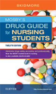 Image of the book cover for 'Mosby's Drug Guide for Nursing Students'
