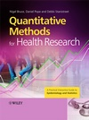 Image of the book cover for 'Quantitative Methods for Health Research'