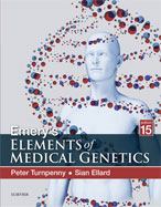 Image of the book cover for 'Emery's Elements of Medical Genetics'