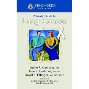Image of the book cover for 'Johns Hopkins Patients' Guide To Lung Cancer'