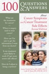 Image of the book cover for '100 QUESTIONS & ANSWERS ABOUT CANCER SYMPTOMS AND CANCER TREATMENT SIDE EFFECTS'