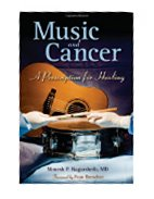 Image of the book cover for 'MUSIC AND CANCER'