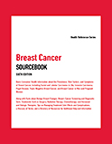 Image of the book cover for 'Breast Cancer Sourcebook'