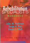 Image of the book cover for 'THE REHABILITATION SPECIALIST'S HANDBOOK'