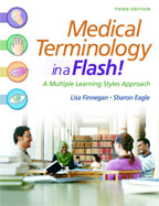 Image of the book cover for 'Medical Terminology in a Flash!'
