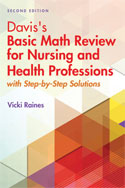 Image of the book cover for 'Davis's Basic Math Review for Nursing and Health Professions'