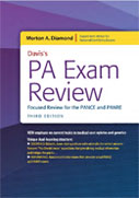 Image of the book cover for 'Davis's PA Exam Review: Focused Review for the PANCE and PANRE'