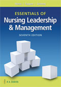 Image of the book cover for 'Essentials of Nursing Leadership & Management'
