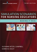 Image of the book cover for 'Simulation Scenarios for Nursing Educators'