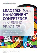 Image of the book cover for 'Leadership and Management Competence in Nursing Practice'