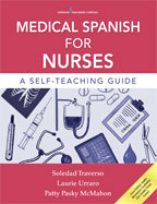 Image of the book cover for 'Medical Spanish for Nurses'