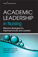 Image of the book cover for 'Academic Leadership in Nursing'