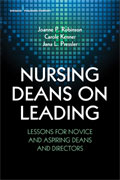 Image of the book cover for 'Nursing Deans on Leading'