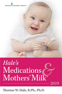 Image of the book cover for 'Hale's Medications & Mothers' Milk'