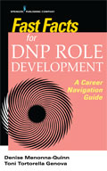 Image of the book cover for 'Fast Facts for DNP Role Development'