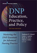 Image of the book cover for 'DNP Education, Practice, and Policy'