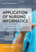 Image of the book cover for 'Application of Nursing Informatics'
