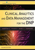 Image of the book cover for 'Clinical Analytics and Data Management for the DNP'