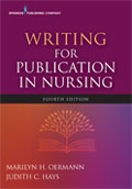 Image of the book cover for 'Writing for Publication in Nursing'