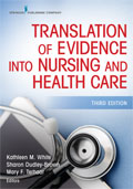 Image of the book cover for 'Translation of Evidence Into Nursing and Healthcare'