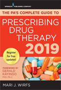 Image of the book cover for 'The PA's Complete Guide to Prescribing Drug Therapy 2019'