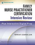 Image of the book cover for 'Family Nurse Practitioner Certification Intensive Review'