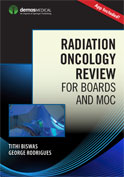 Image of the book cover for 'Radiation Oncology Review for Boards and MOC'