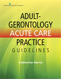 Image of the book cover for 'Adult-Gerontology Acute Care Practice Guidelines'