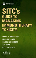 Image of the book cover for 'SITC's Guide to Managing Immunotherapy Toxicity'