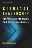 Image of the book cover for 'Clinical Leadership for Physician Assistants and Nurse Practitioners'
