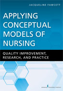 Image of the book cover for 'Applying Conceptual Models of Nursing'
