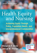 Image of the book cover for 'Health Equity and Nursing'