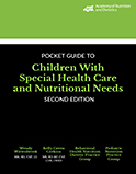Image of the book cover for 'Pocket Guide to Children with Special Health Care and Nutritional Needs'