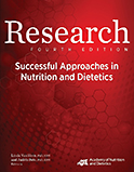 Image of the book cover for 'Research: Successful Approaches in Nutrition and Dietetics'