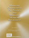 Image of the book cover for 'Managing Contraceptive Pill Patients and Managing Hormone Replacement'