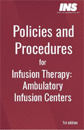 Image of the book cover for 'Policies and Procedures for Infusion Therapy: Ambulatory Infusion Centers'
