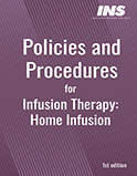 Image of the book cover for 'Policies and Procedures for Infusion Therapy: Home Infusion'